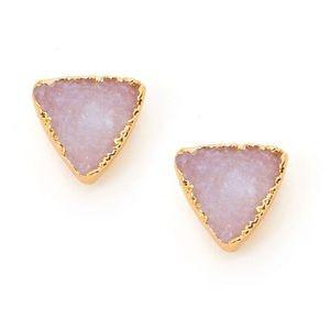 Druzy Triangle Earrings